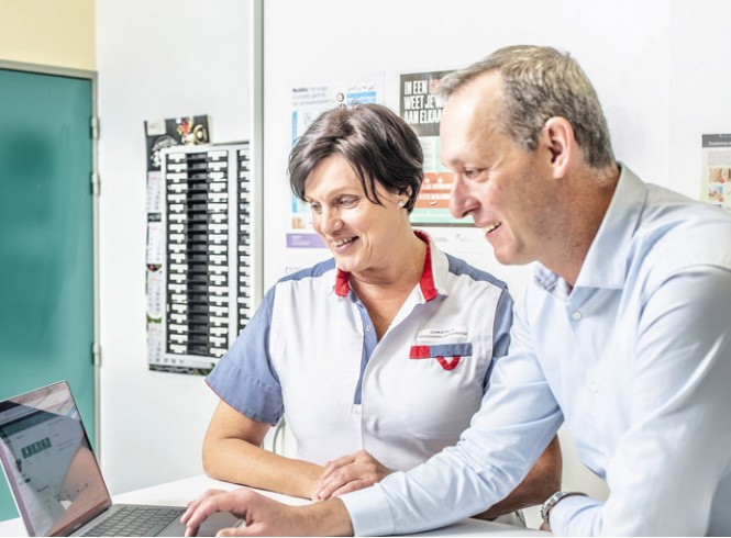 Karel Vrints, sales director benelux over zorgplatform into.care