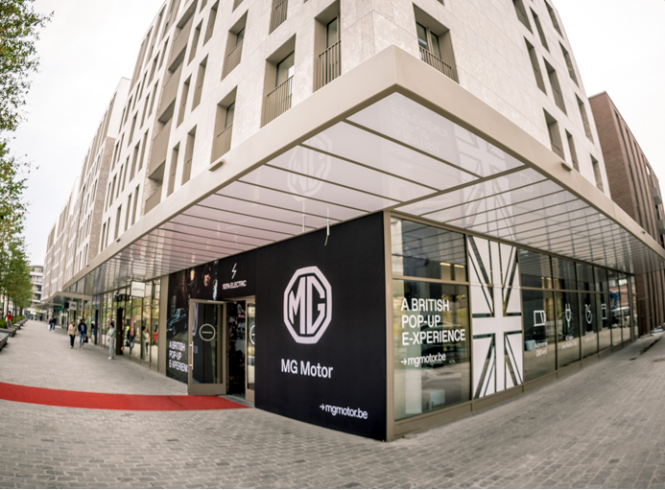 MG Motors pop-upstore Hasselt