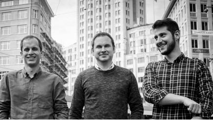 drie zaakvoerders van Buffl: Dimitri Allaert, Dennis De Clercq en Seppe Stroo