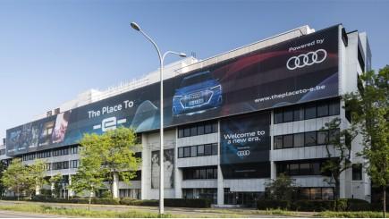 The Place to -e-, het tijdelijk belevingscenter van Audi