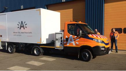 Milieuvriendelijke bestelwagen