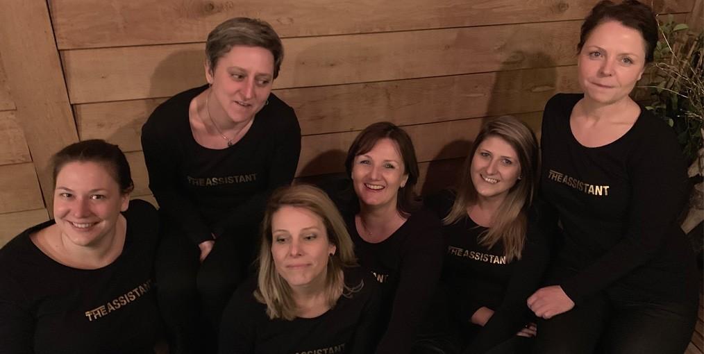 Het team van The Assistant (vlnr): Bianca, Jolijn, Heidi, Wendy, Anke en Babs