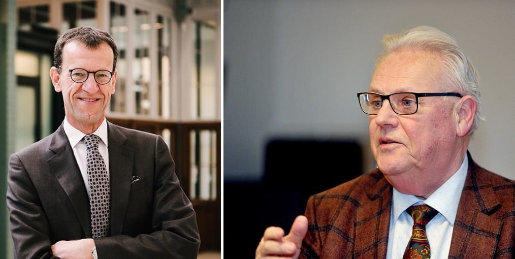 Dirk Wouters, CEO Bank J. Van Breda & C° en voorzitter van B19 Antwerp, en Freddy Arnauts, bezieler van de business club. © B19 Antwerp