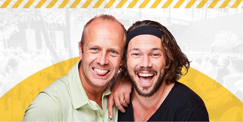 Dries Henau en Yuri Vandenbogaerde, ondernemers van WASBAR en Chez Claire