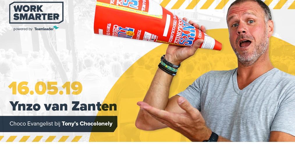 Ynzo van Zanten, Chief Evangelist van Tony's Chocolonely op Work Smarter
