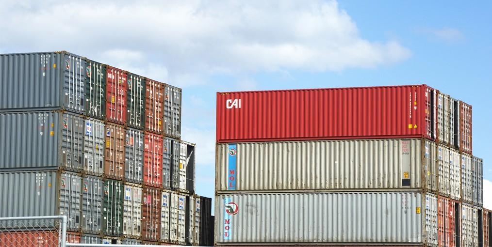 Containertrafiek in Haven van Antwerpen