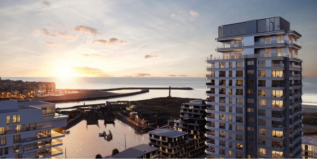 Uitzicht luxe appartement te huur in Oostende